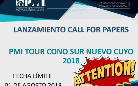 CALL FOR PAPERS – PMI TOUR CONO SUR 2018